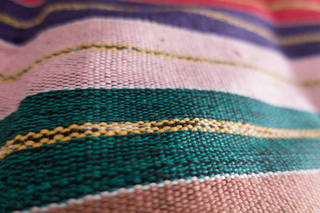 Vintage Guatemalan Striped Table Runner