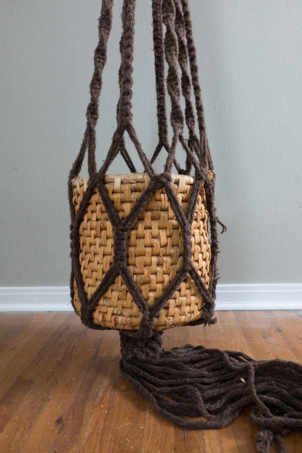 Vintage 10ft Macrame Hanging Planter for Tall Ceilings
