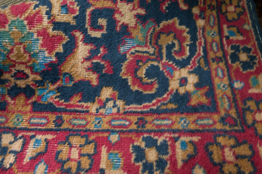 8x12 Vintage Distressed Sarouk Wool Carpet