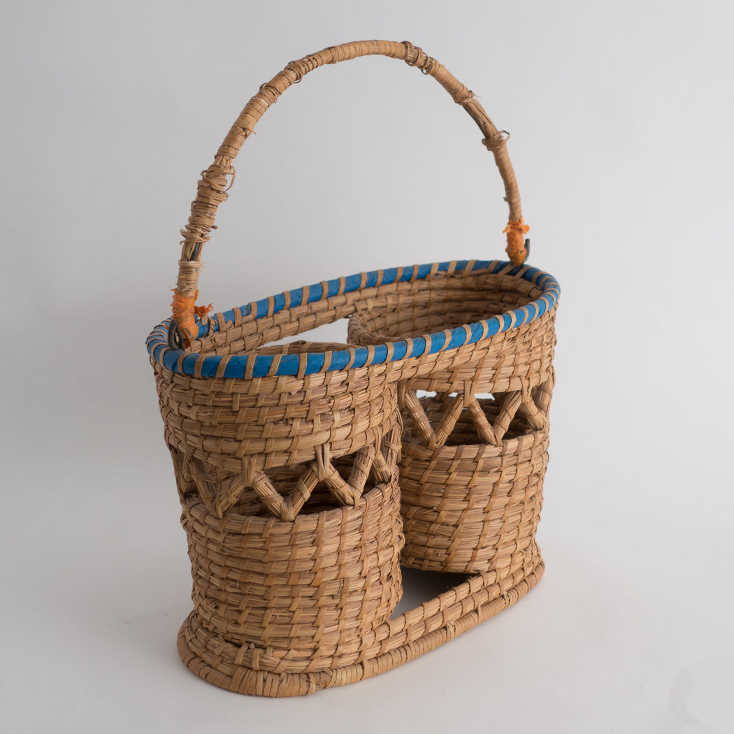 Vintage Wicker Wine Basket | South African Bottle Holder