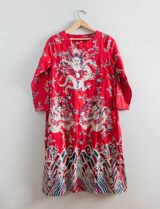 Vintage Red Dragon Dress Han Yi