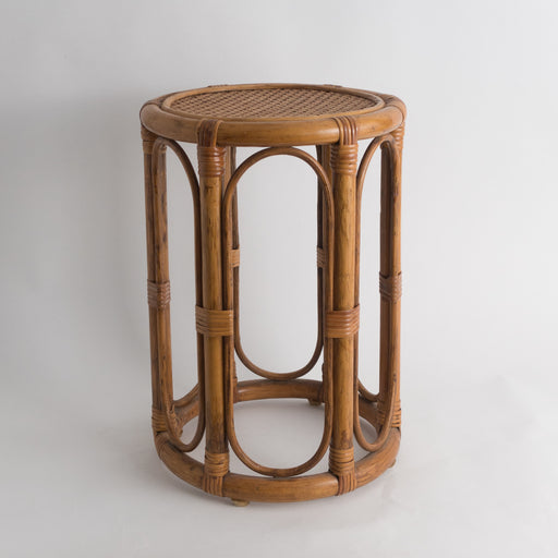 Vintage Caned Bentwood Plant Stand Side Table