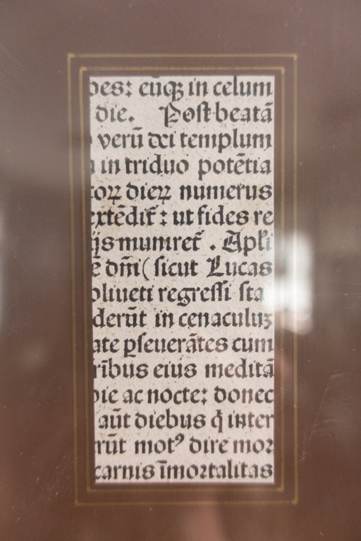 Antique Framed Manuscript Piece