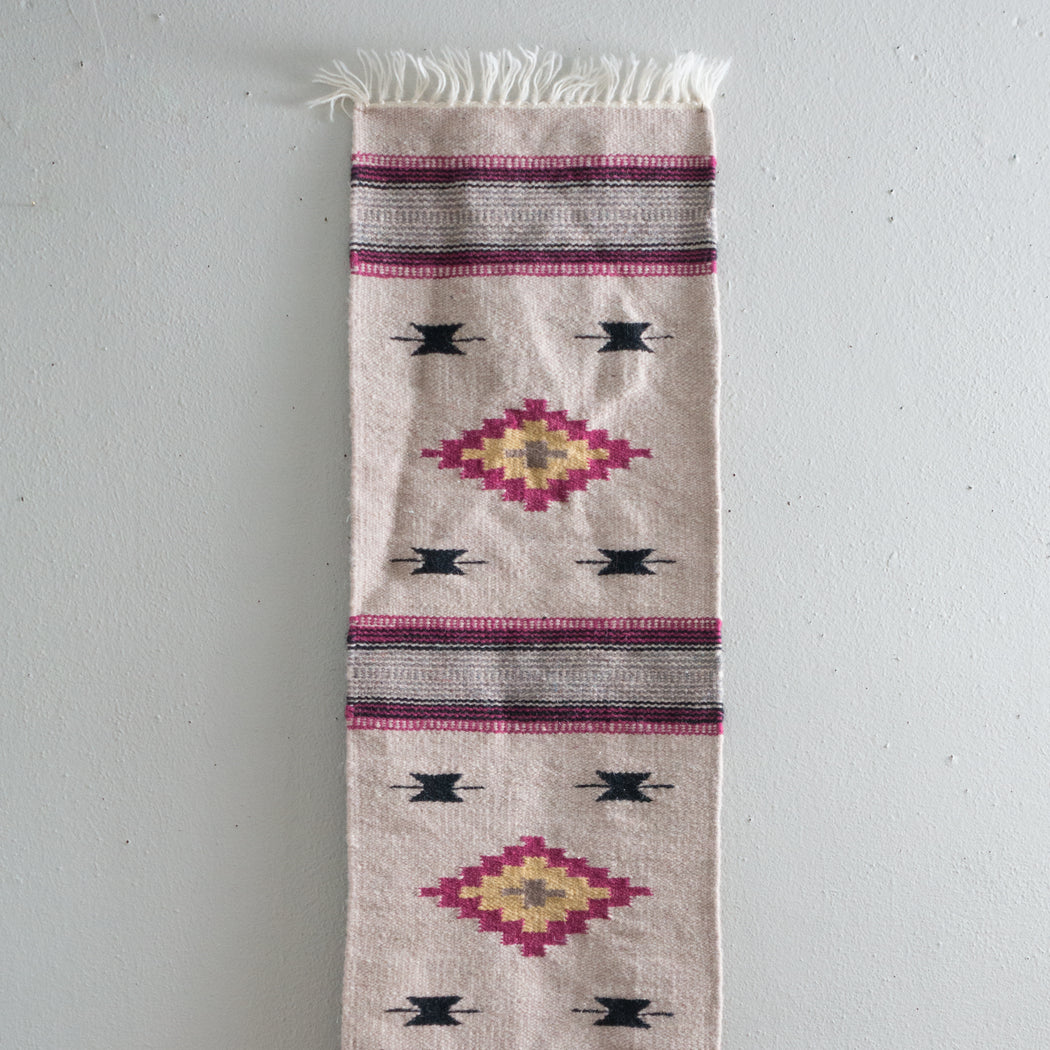 Vintage Southwestern Wool Table Runner