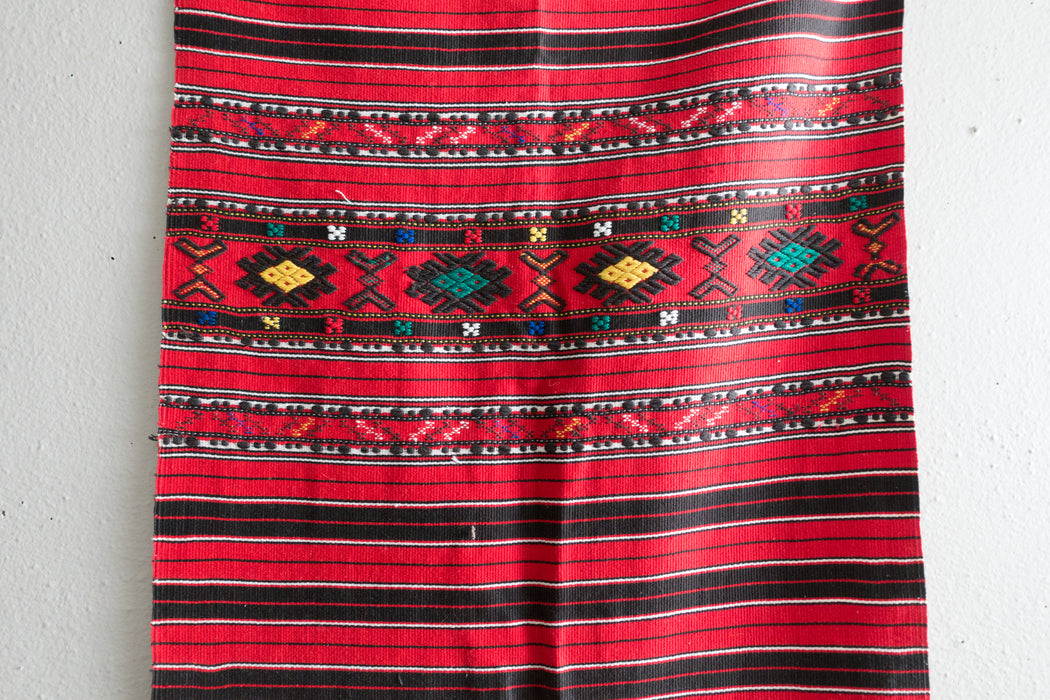 Vintage Red Guatemalan Table Runner
