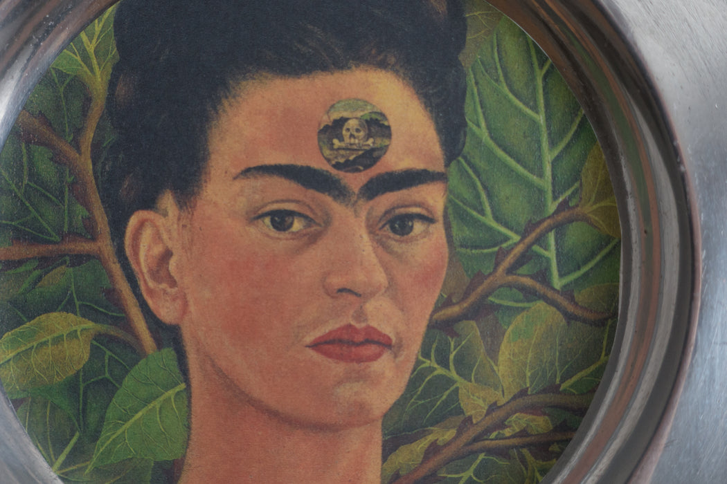 Vintage Frida Kahlo Folk Art Candle Holder
