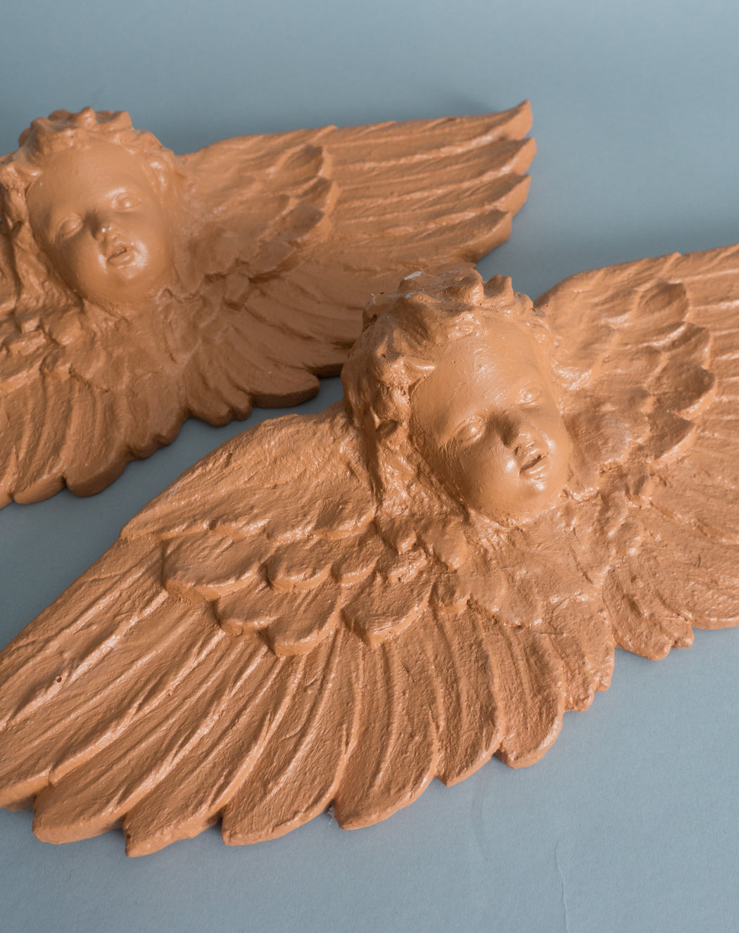 Vintage Terra Cotta Angel Doorway Decor | Mexican Clay Guardian Angel