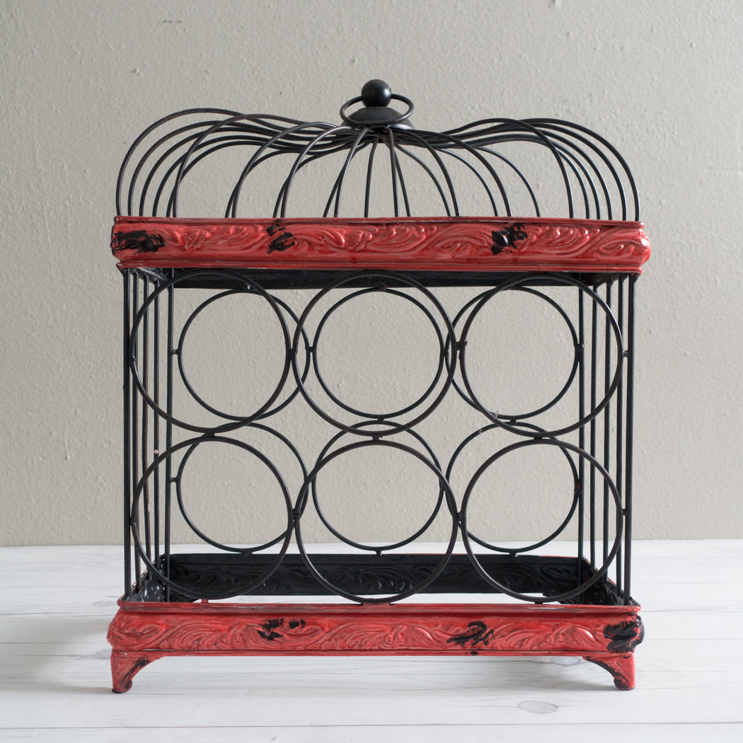 Bird Cage Wine Rack