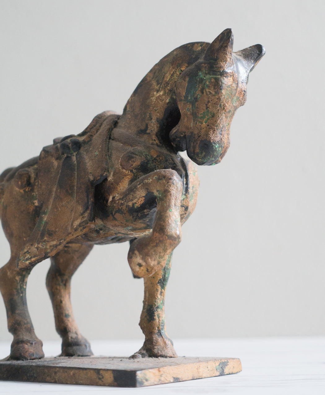 Antique Cast Iron Tang Dynasty Style Horse