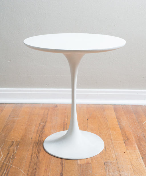 Mid Century White Tulip Side Table