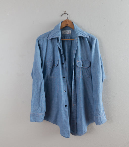 Vintage Long Sleeve Chambray Button Down Shirt