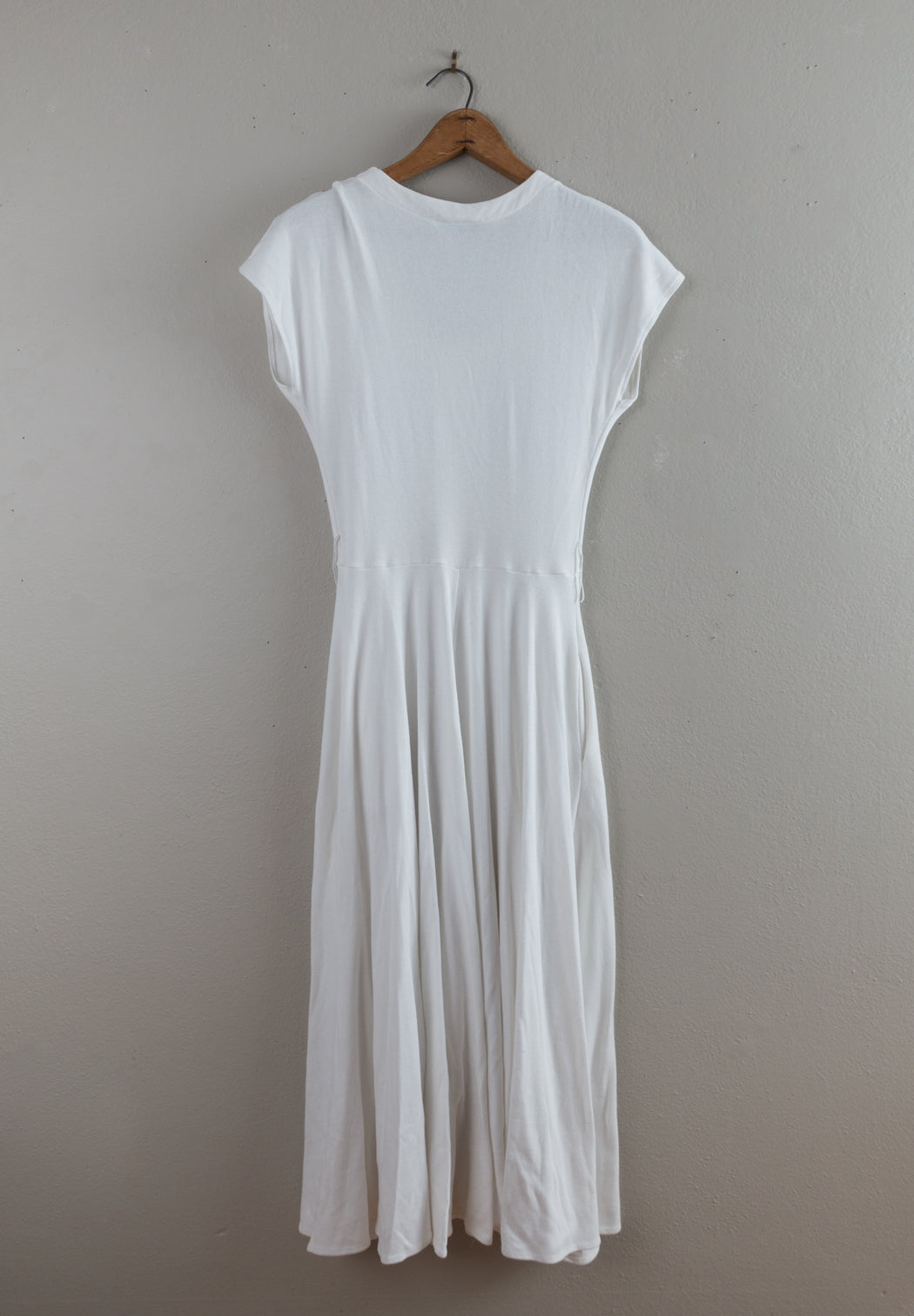 Vintage White Ankle Length Button Down Dress | Diane Von Furstenberg