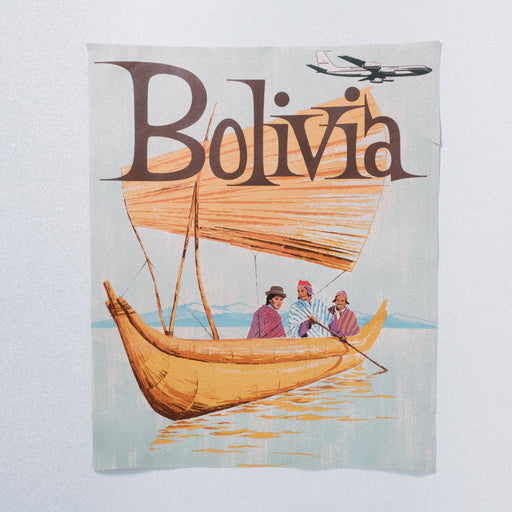 Vintage Bolivia Travel Poster Braniff Airways