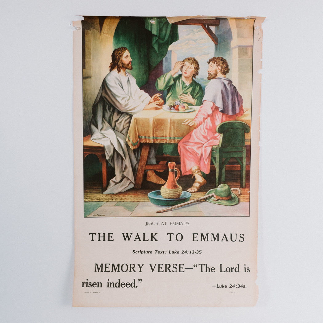Vintage 1940's Sunday School Poster // The Walk to Emmaus