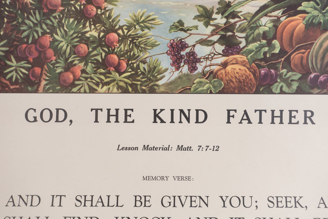 Vintage 1940's Sunday School Poster // God, the Kind Father