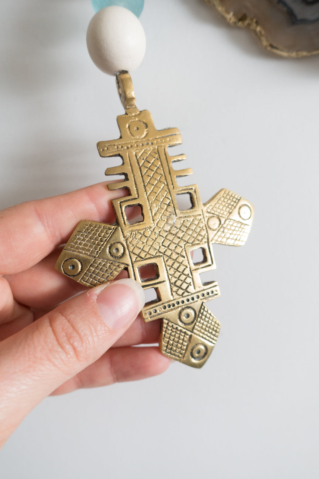 Vintage Ethiopian Cross Wall Hanging