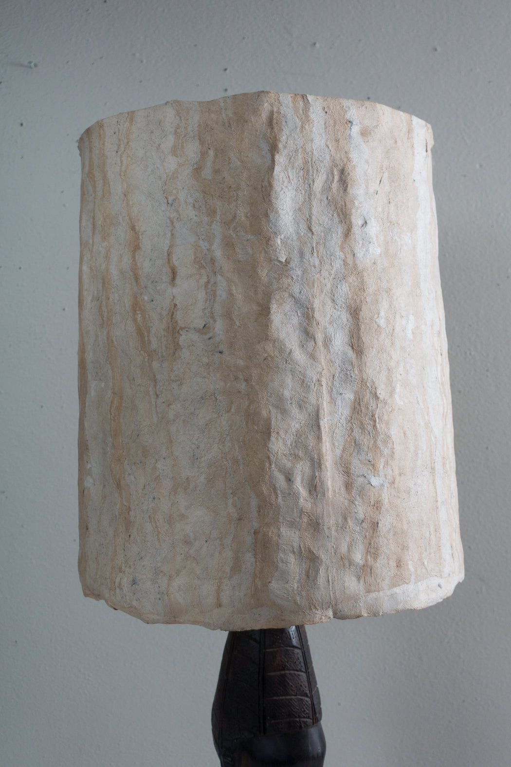 Vintage African Lamp with Rawhide Shade