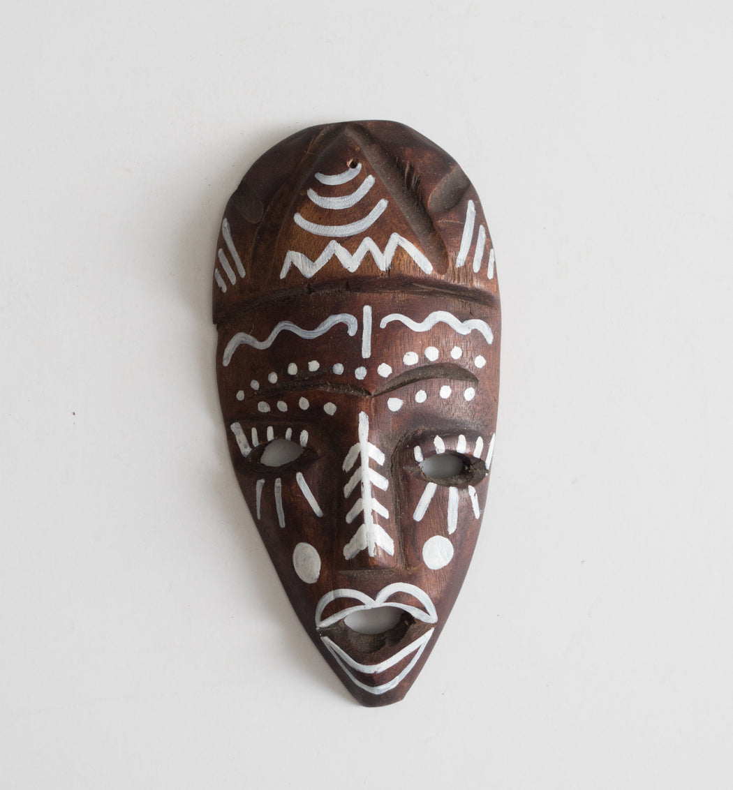 Vintage Painted Wooden Mask