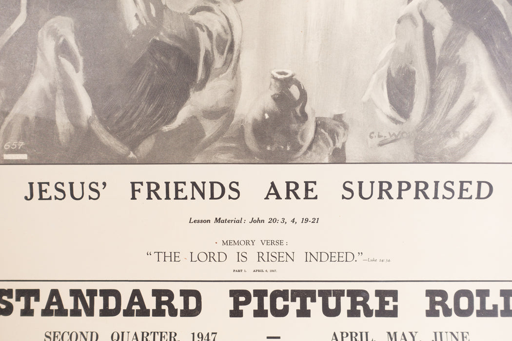 Vintage 1940's Sunday School Poster // Jesus' Friends Are Surprised