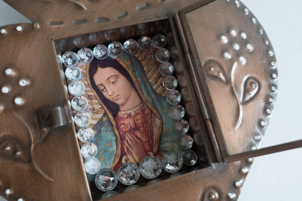 Our Lady of Guadalupe Sacred Heart Retablo