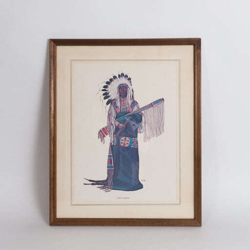 Vintage Native American Crow Warrior Print by Ken Ottinger