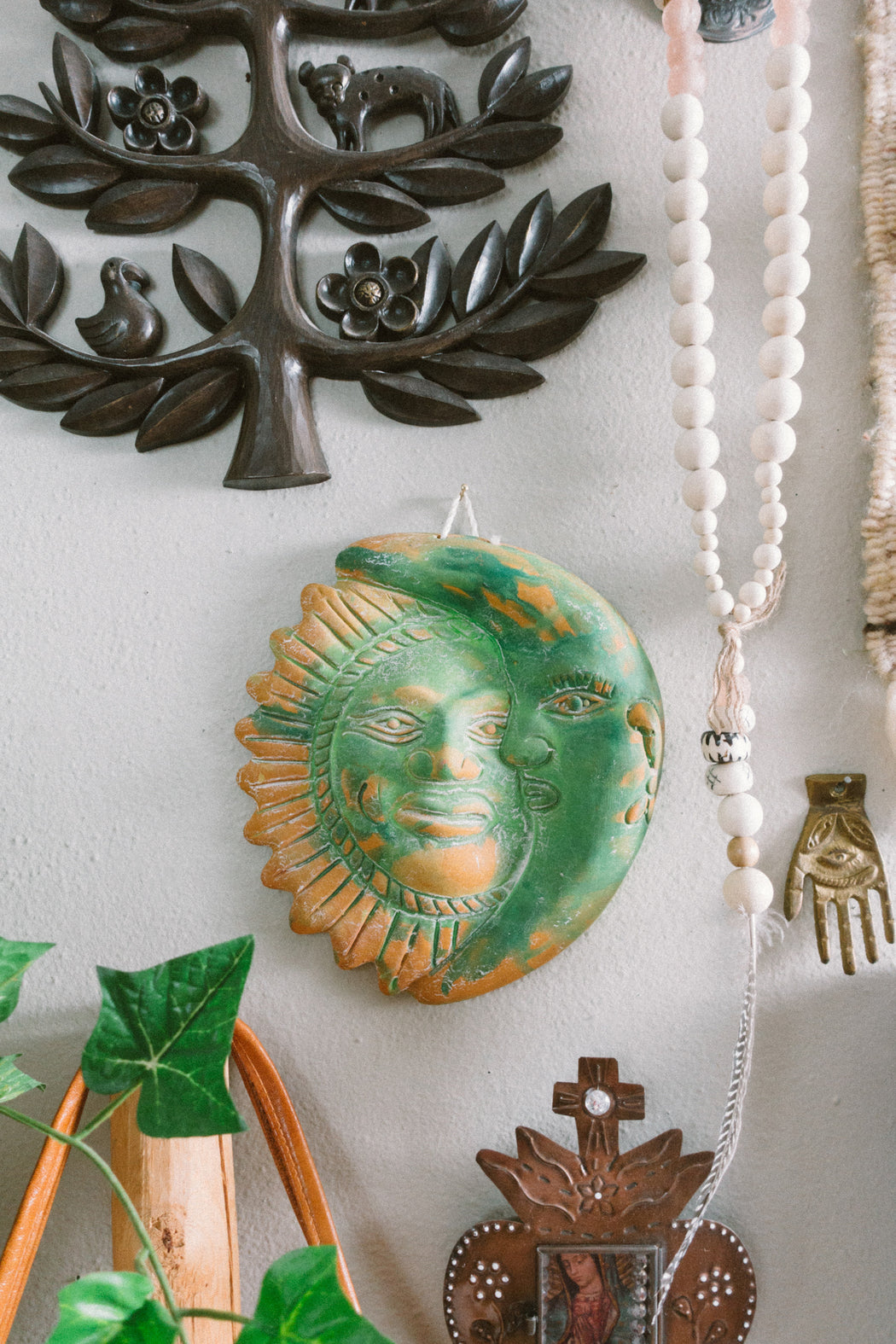 Vintage Green Terra Cotta Eclipse