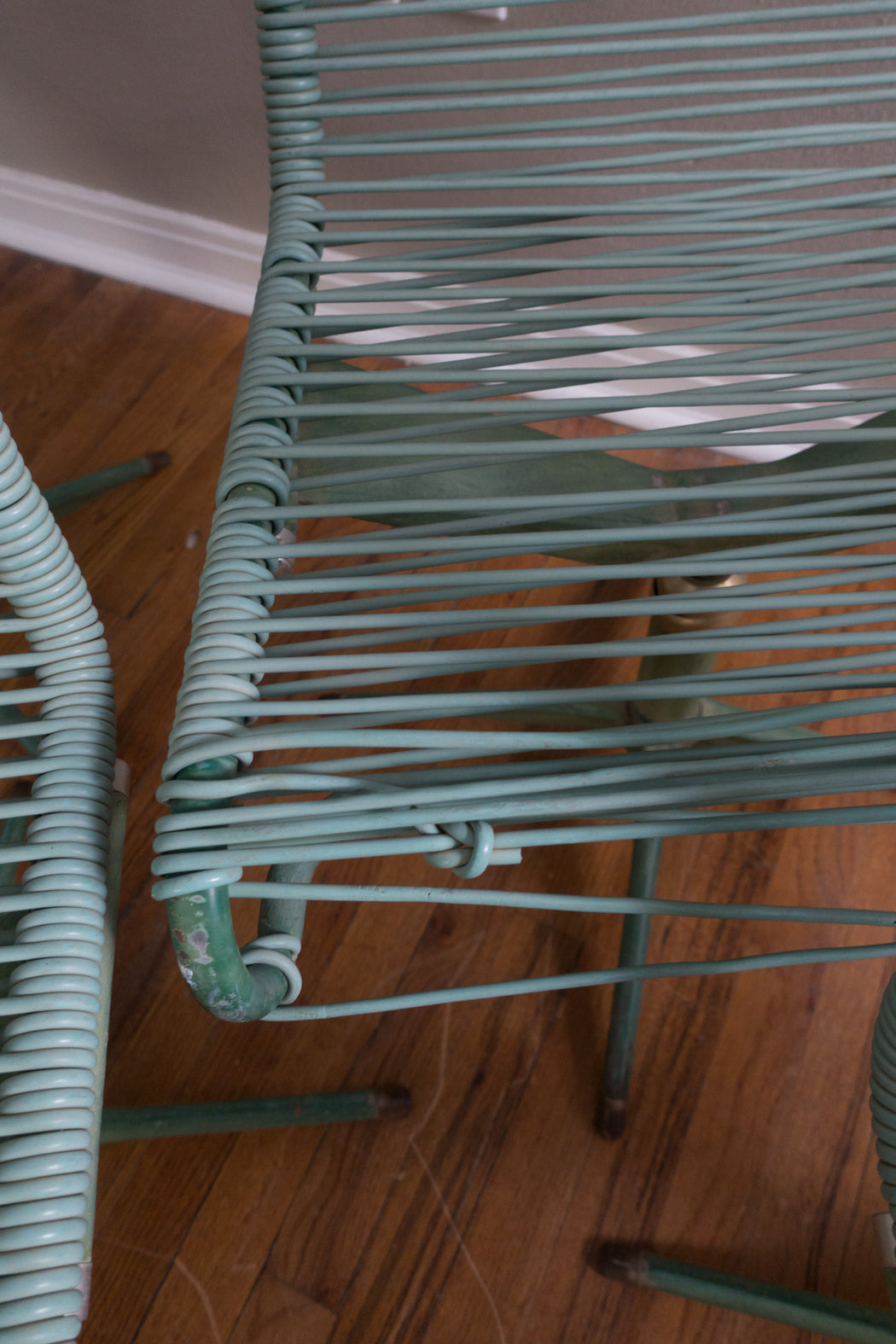 Set of 4 Mid Century Ames Aire Green Patio Chairs Cabana Star Line