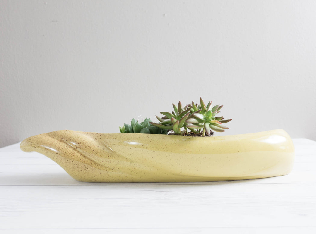 Vintage Oblong Ceramic Planter