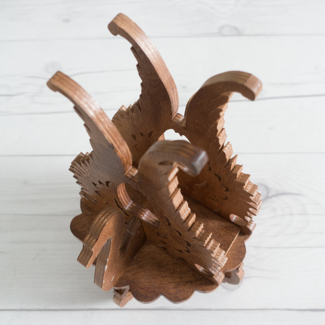 Vintage Wooden Swan Napkin Holder
