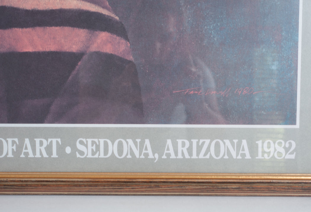 1982 Frank Howell El Prado Gallery Exhibit Poster Sedona Arizona