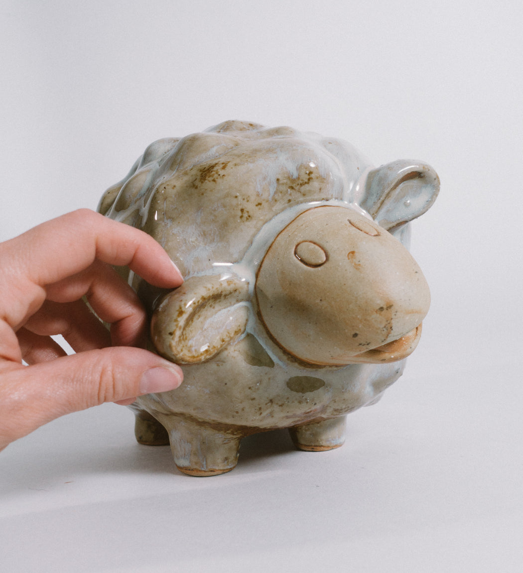 Vintage Studio Pottery Lamb | Sheep Figurine | Whimsical Farmhouse Decor