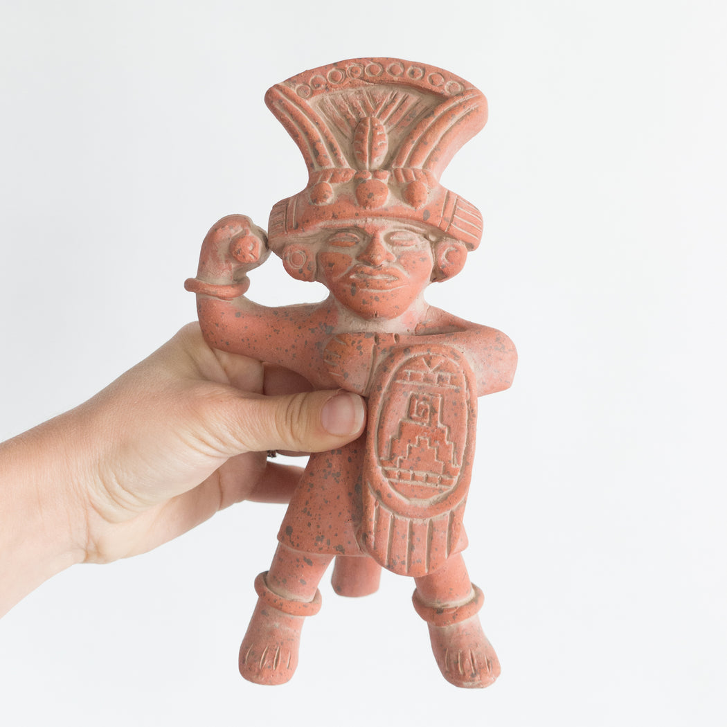 Vintage Mesoamerican Terra Cotta Figurine Art Reproduction