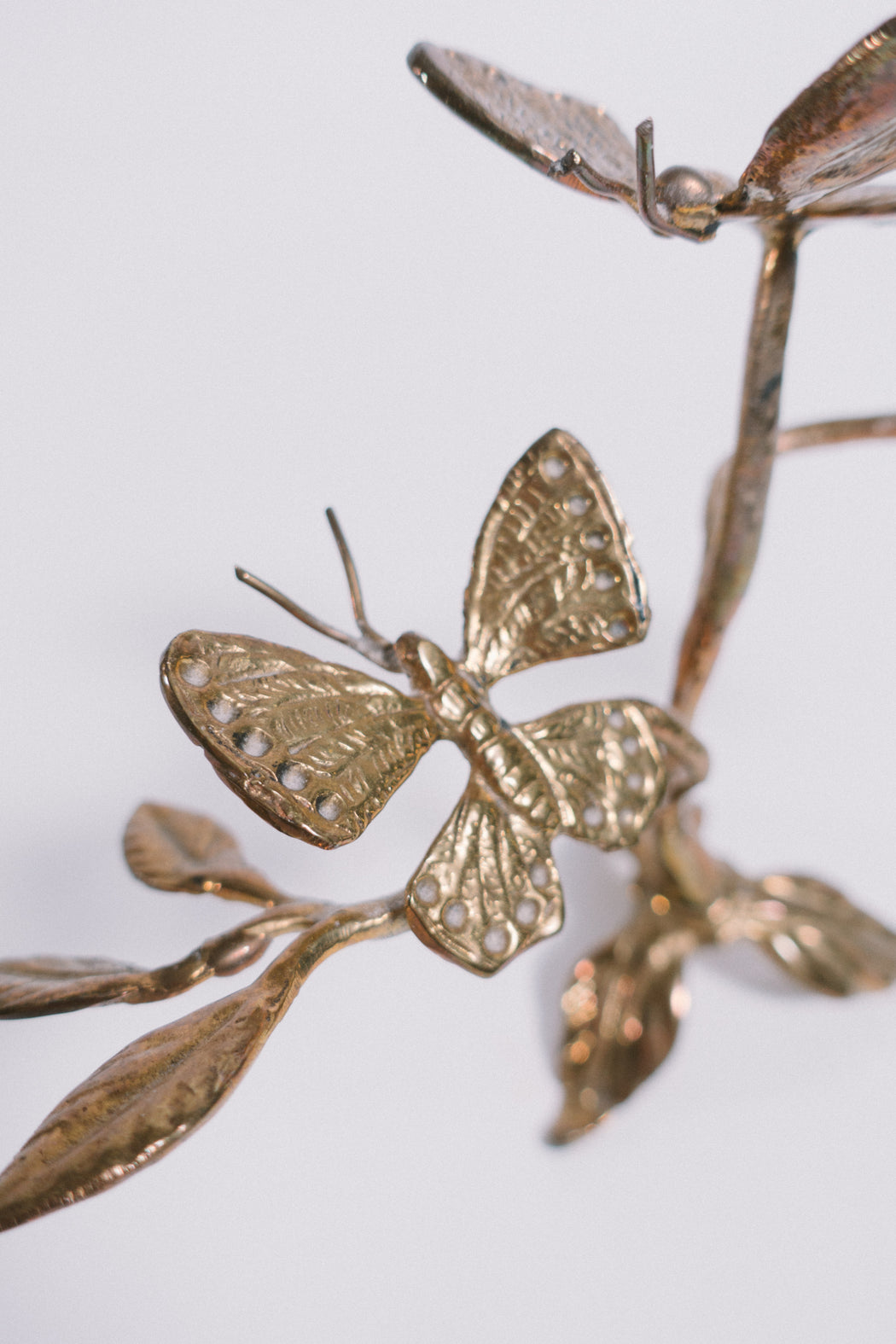 Vintage Brass Butterfly Figurine | Butterflies on Branches