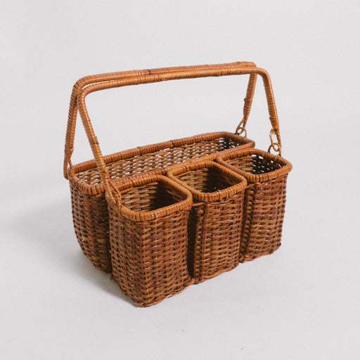 Vintage Wicker Condiment Basket
