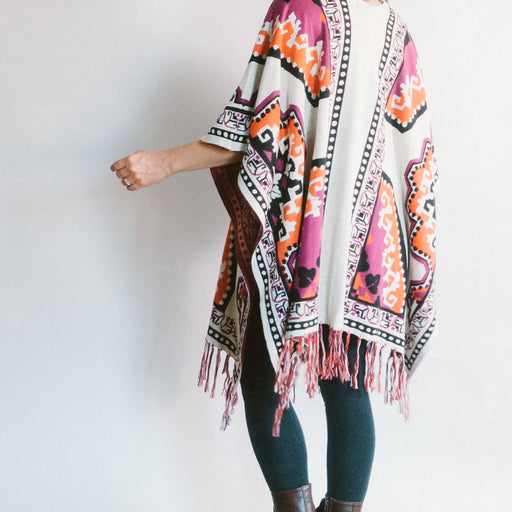 Flying Tomato Open Front Poncho