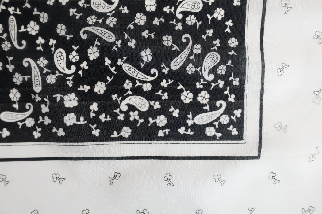 Vintage Black and White Italian Scarf