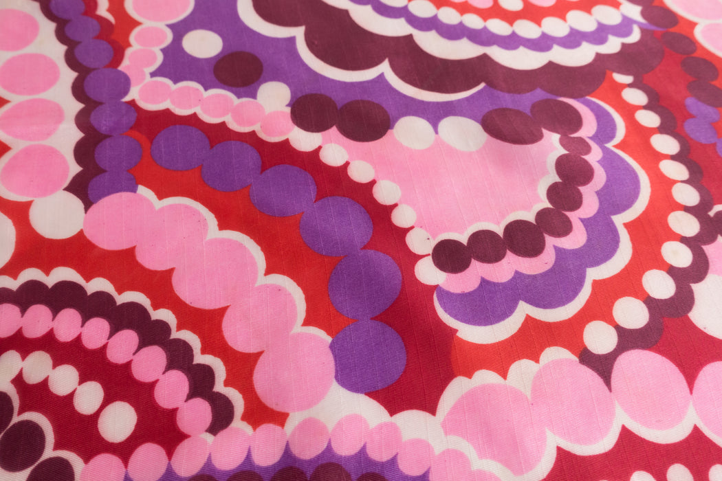 Vintage Pink Psychedelic Scarf