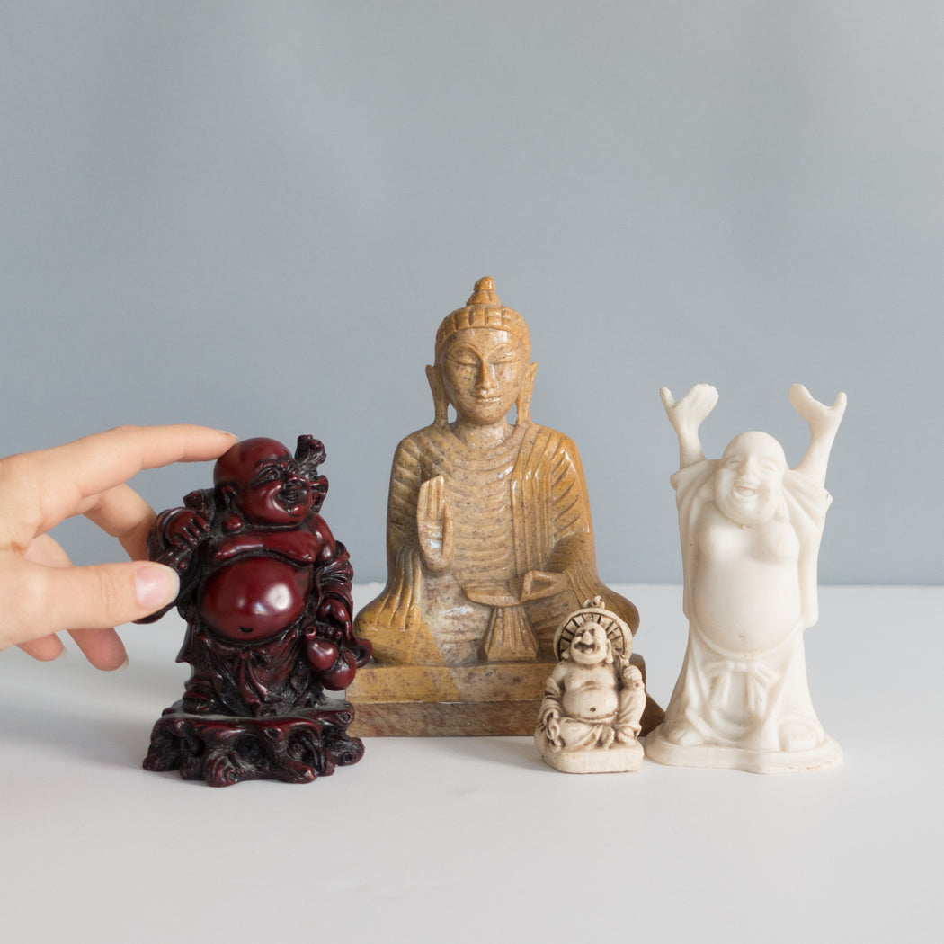 Set of Four Vintage Buddha Statues