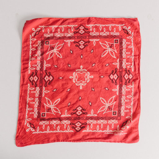 Vintage Red Western Cotton Bandana