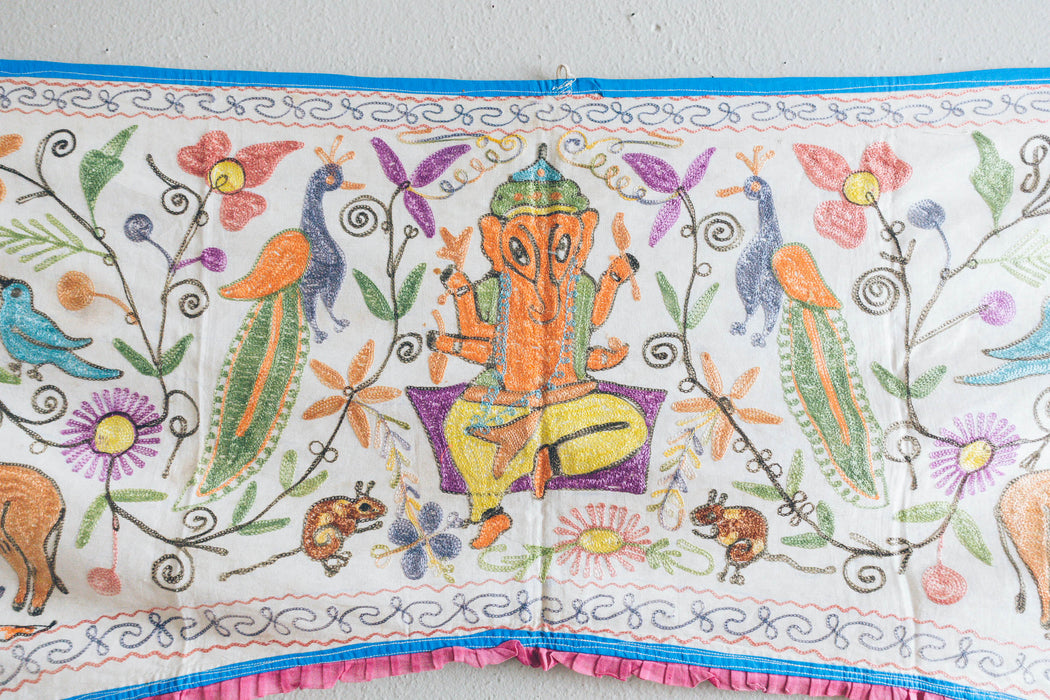 Vintage Indian Toran Curtain Panel
