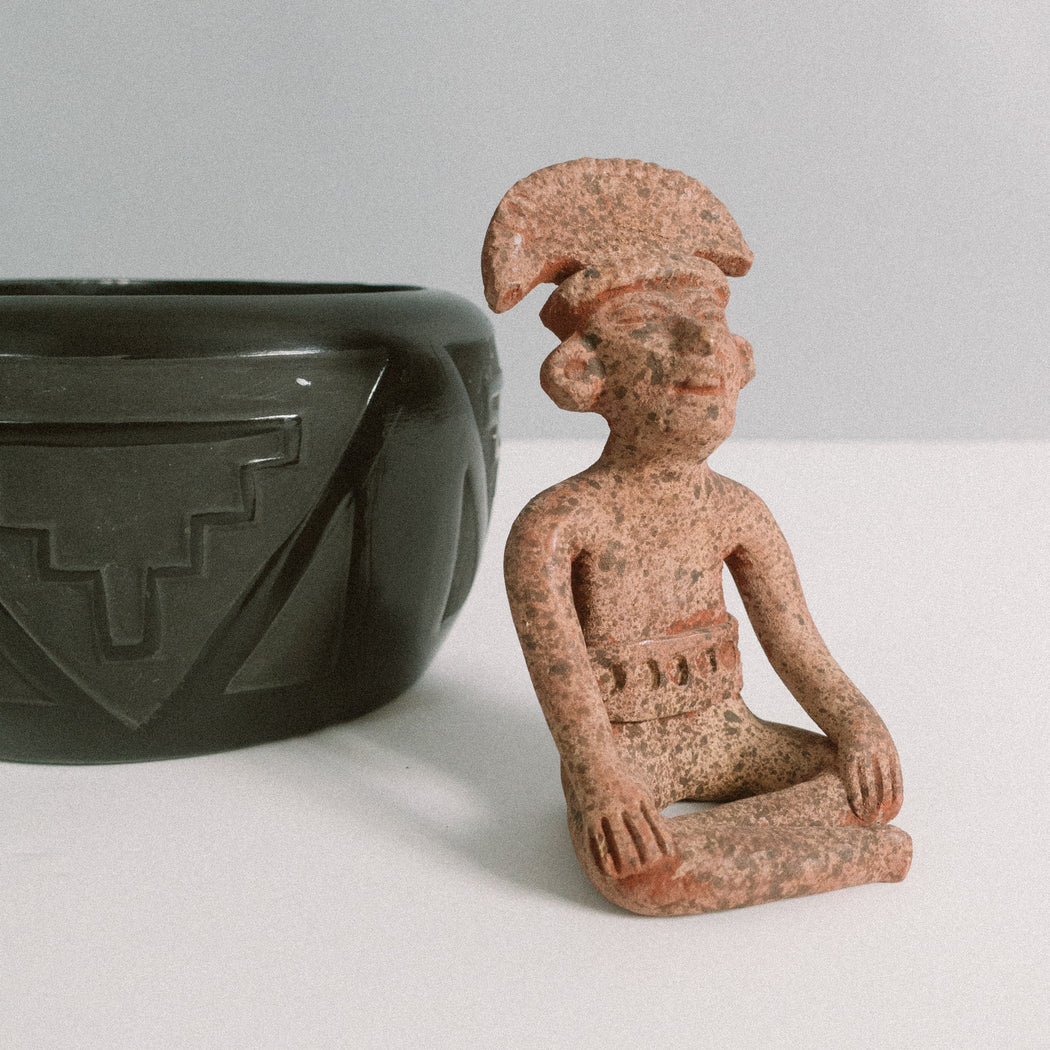Vintage Mesoamerican Terra Cotta Figurine | Pre Columbian Art Reproduction