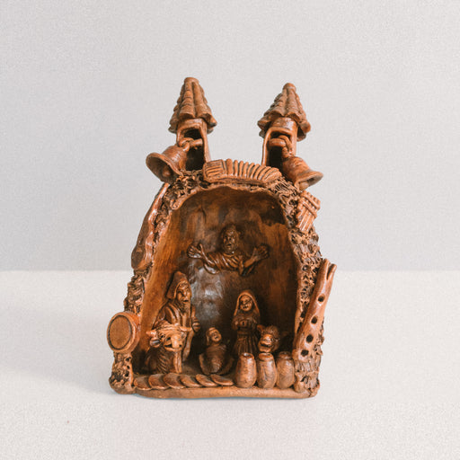 Vintage European Christmas Nativity | Grotto Nativity Scene