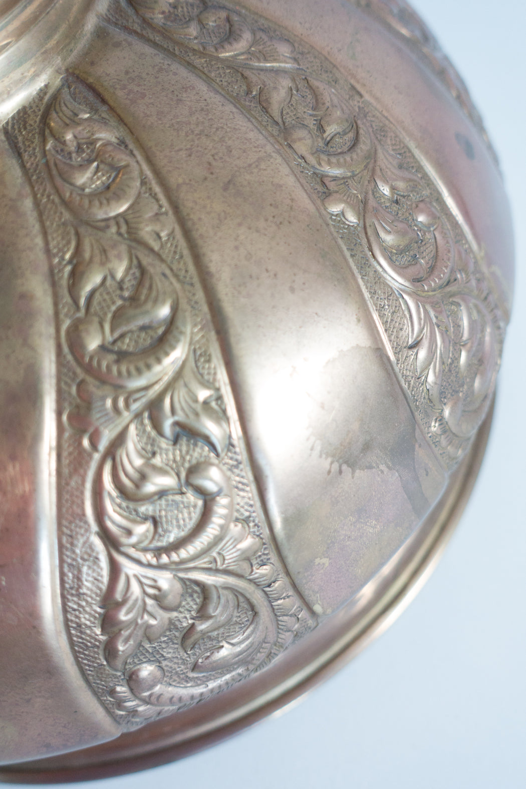 Vintage Turkish Brass Food Dome | Food Cover Cloche