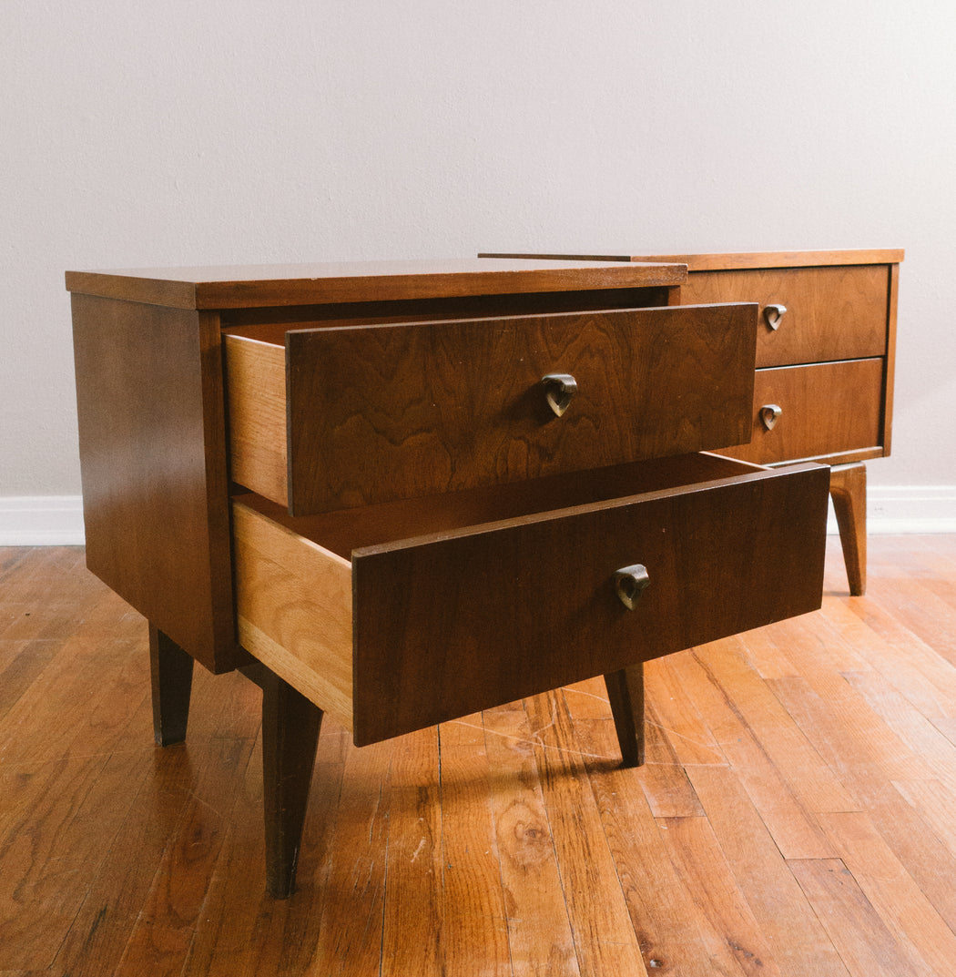Pair of Mid Century Night Stands