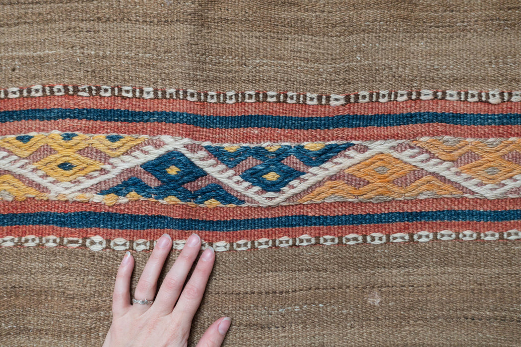 4x9.5 Vintage Turkish Kilim Runner