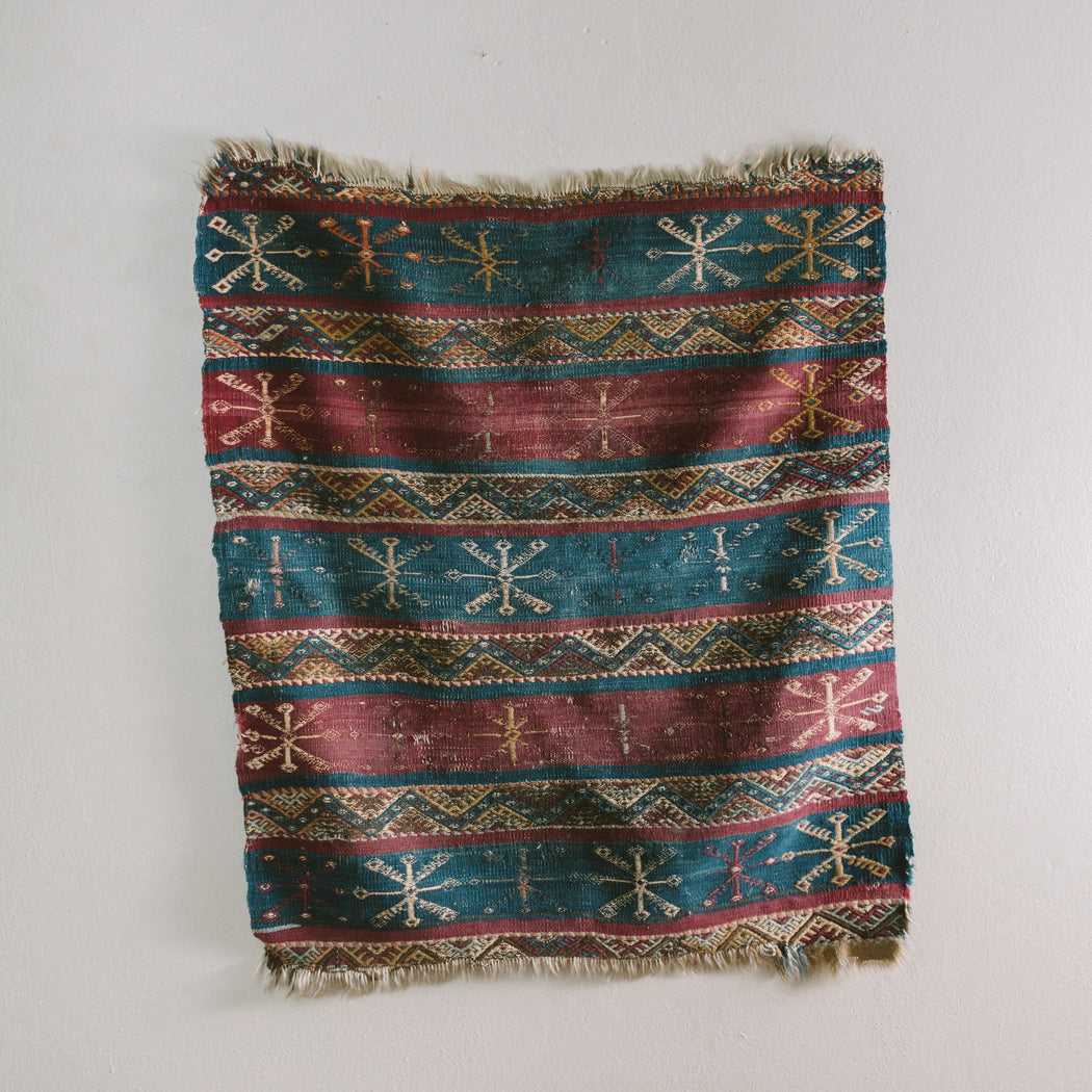 Small Vintage Turkish Rug | Antique Jijim Carpet