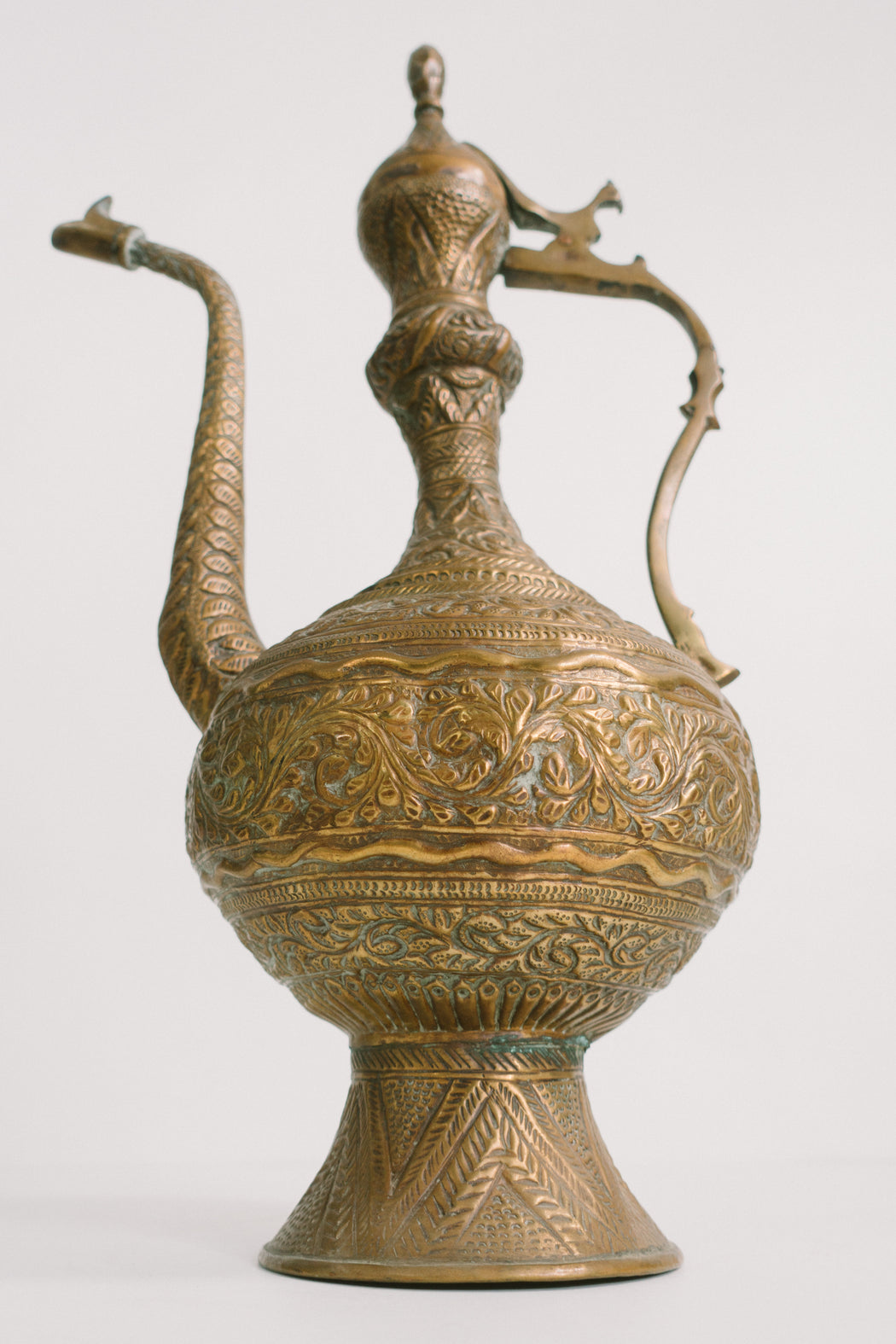 Vintage Aftaba Water Pitcher | Middle Eastern Decorative Metalware