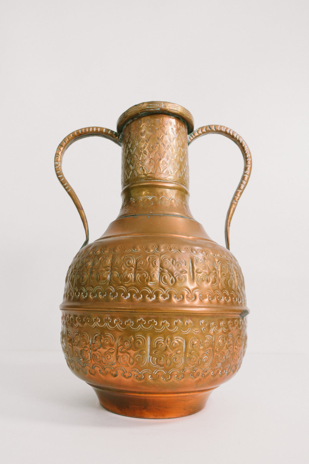 Vintage Copper Water Pitcher | Middle Eastern Decorative Metalware