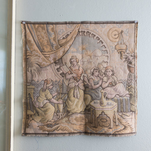 Vintage Orientalist Tapestry Wall Hanging from Belgium