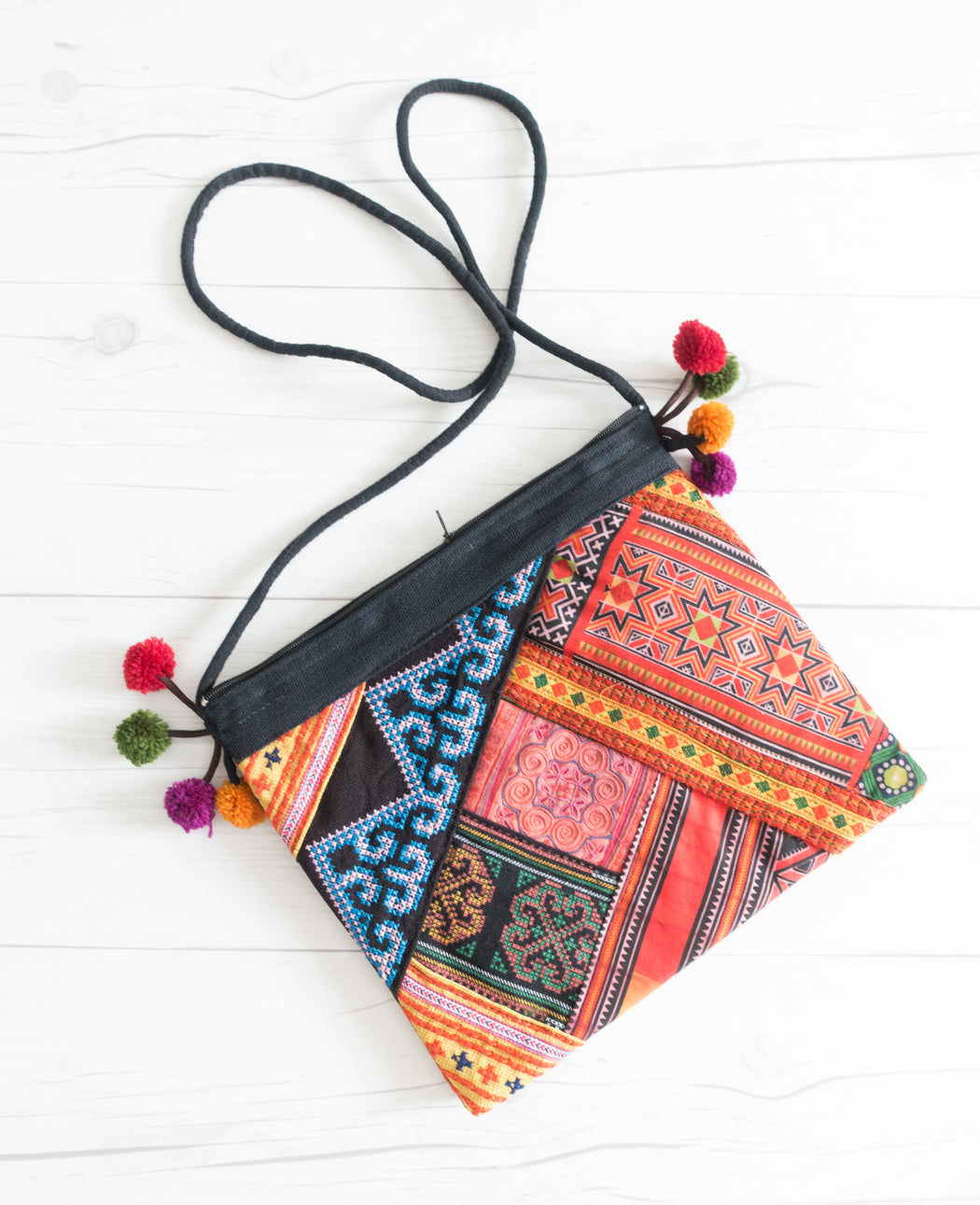 Thai Vintage Fabric Patchwork Purse